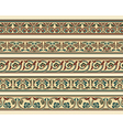 Set of five decorative borders vector image