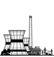 Silhouette Nuclear Power Plant vector image vector image