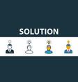 solution icon set premium symbol in different vector image vector image