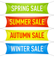 Spring summer autumn winter sale banners vector image vector image