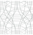 tangled curvy lines seamless pattern repeat vector image vector image