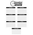 template for creation food menu vector image