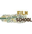 the joys of film school text background word vector image vector image