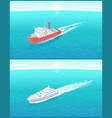 transportation sailboats on skyline boats floating vector image vector image