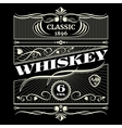 Vintage antique american whiskey label vector image vector image
