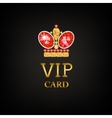 VIP card with ruby king crown vector image vector image