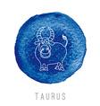 Watercolor of the bull Taurus vector image
