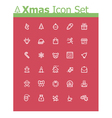 Xmas icon set vector image