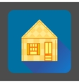 Yellow house icon flat style vector image vector image