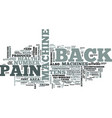 z back pain machine text word cloud concept vector image vector image