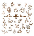 coffee icons set coffee shop vector image