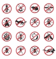Pest Animals Flat Icons vector image