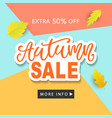 autumn sale fashionable banner template vector image