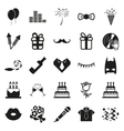 simple black Party and Celebration icon set vector image