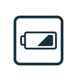 low battery icon Rounded squares button vector image