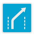 traffic to the right icon flat style vector image