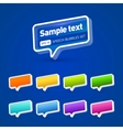 3d glossy speak bubbles set vector image