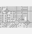 abstract city map black and white vector image vector image