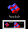 abstract isometric logotype vector image vector image