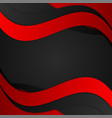 Abstract wave red and black background