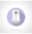 Air purification flat color round icon vector image vector image