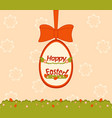 an easter egg hunt card vector image vector image