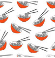asian food ramen noodles bowl vector image