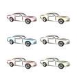auto car logo design concept with sports car vector image vector image