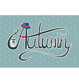 Autumn hipster lady banner vector image