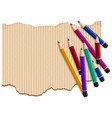 background template with pile of pencils vector image vector image