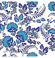 beautiful with blue flowers ornament vector image vector image