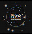 black friday sale banner on analog tv vector image