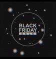 black friday sale banner on analog tv vector image