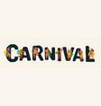 brazil carnival funny vector image