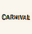brazil carnival funny vector image vector image