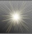 bright shining star bursting explosion vector image