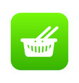 cart shop icon green vector image