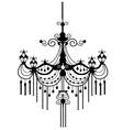chandelier vector image vector image