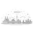 cityscape with all famous buildings vector image vector image
