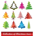 collection of christmas trees vector image vector image