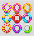 colorful realistic rubber swimming ring vector image vector image