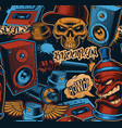 colorful seamless background for graffiti theme vector image vector image