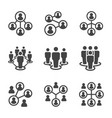 connecting people icon set vector image vector image
