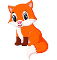 cute fox cartoon vector image vector image