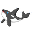 Cute killer whale cartoon posing