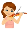 cute little girl playing violin vector image vector image