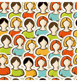 Diversity people pattern background vector image vector image