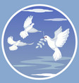 dove with olive branch flat vector image vector image
