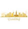 dusseldorf city skyline golden silhouette vector image vector image
