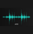 echo audio wavefrom abstract music waves vector image vector image